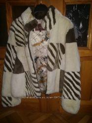 Натуральная шубка - курточка, кролик рекс бобрик, шиншила