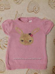 Трикотажный свитерок - жилетка Crazy8 для девочки 3-4 года.