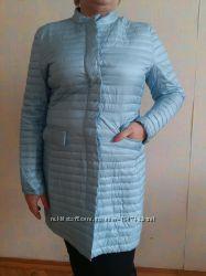 Демисезонное пальто на пуху, размер XL, 50-52