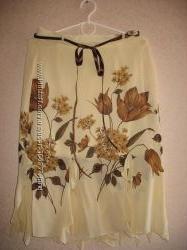 новая шифоновая юбка с подкладой 44-46 размер