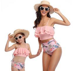Трендовые купальники для мамы и дочки. Часть 2