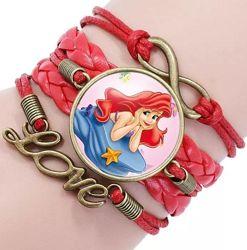 Плетеные браслеты с героинями любимых мультиков