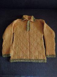 Вязаный свитерок ручная работа. 7-9 лет.