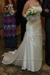Эксклюзивное свадебное платье 2 пары перчаток