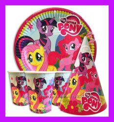 Декор одноразовая посуда День рождения Принцессы Китти  Пони