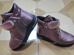 Демисезонные утепленные ботинки  для девочек 26-30 р-р
