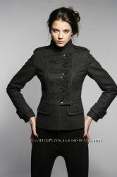 Стильное весеннее темно-серое пальто-куртка Raslov, 46 размер