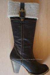 Коричневые сапоги Marco Tozzi, бу, 39 размер