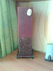 Свеча блок Капучино 45см. коричневый цвет