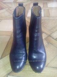 Жіночі елегантні шкіряні черевички  Massimo Dutti на танкетці