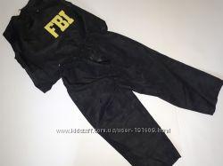 Новогодний карнавальный костюм работника спецслужбы ФБР FBI 6-7 лет