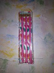 Набор простых карандашей Scribbles с ластиком 6 шт в пенале Великобритания