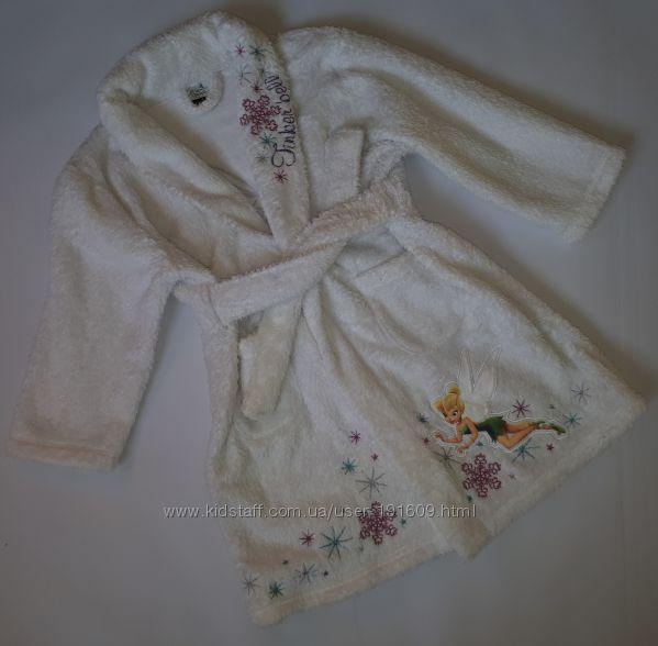 Теплый плюшевый халат George 3-4 года бу