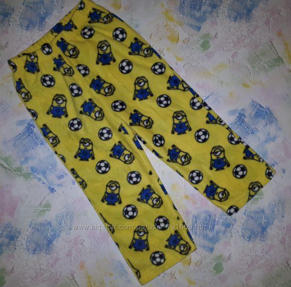 Теплые флисовые штаны Disney Миньоны 2-3 года. Новые