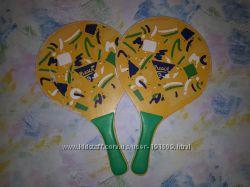 Ракетки для пляжного тенниса деревянные бичбол бу