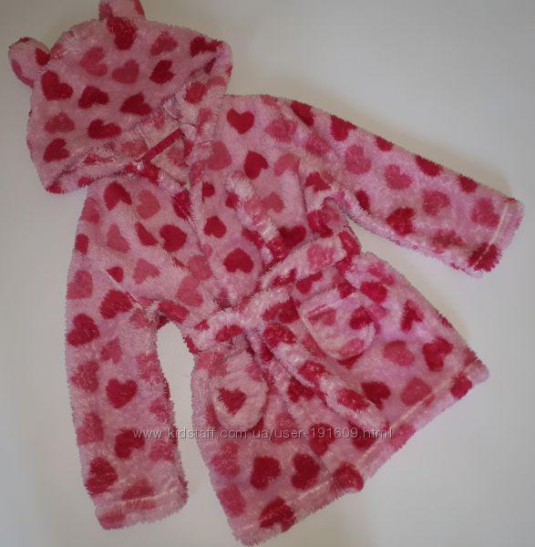 Теплый плюшевый халат Early days 1-2 года бу