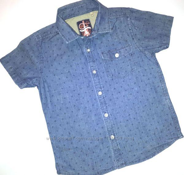 Рубашка шведка Tu 6-7 лет бу