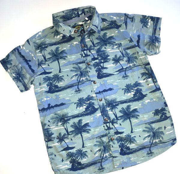 Рубашка шведка Tu мальчику 10-11 лет бу