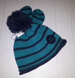 Вязаный комплект из шапки с помпоном и рукавичек Next 0-3, 3-6, 6-9 мес