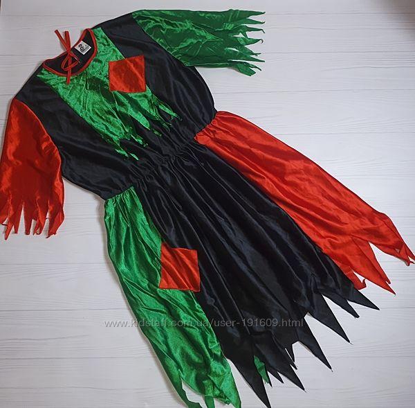 Карнавальный костюм платье Баба Яга ведьма 44-46 бу