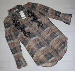 Блуза прозрачная с вышивкой Next 42-44