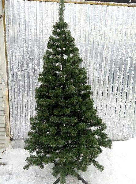 Искусственная зеленая елка Лесная  ПВХ