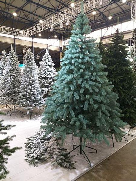 Искусственная голубая елка Президентская литая