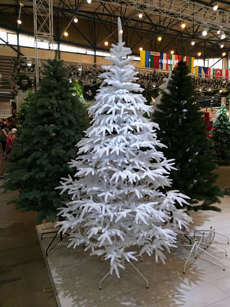 Искусственная белая елка Альпийская литая