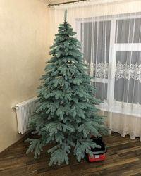 Искусственная голубая елка Ковалевская литая
