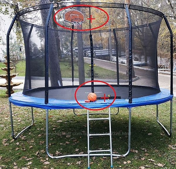 Батут диаметр 366 см  Баскетбольный Щит  Vzx