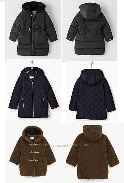 Детская верхняя одежда на осень и зиму от бренда ZARA