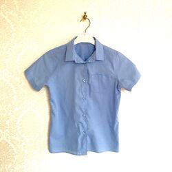 Школьная рубашка на мальчика 6-9 лет