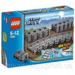 Железнодорожные  пути Лего Сити 7499  в наличии