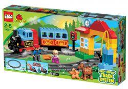 LEGO Duplo 10507 Мой первый поезд, 10506 рельсы