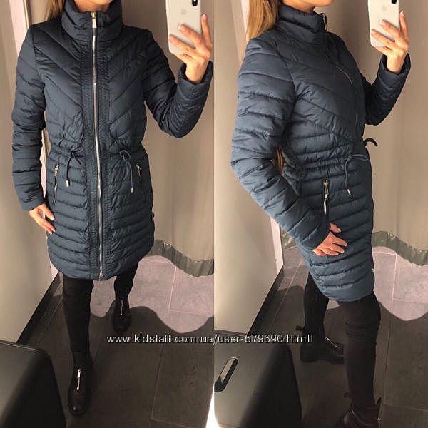 Куртка amisu стёганная синяя