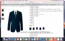 Новые подростковые пиджаки Russell из Англии на 12-15 лет