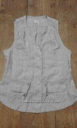 жилет-блуза натуральный лен 14
