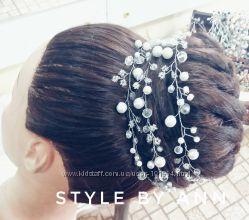 Венок для волос большой выбор из хрустальных бусин