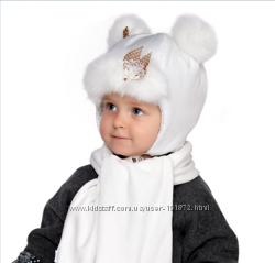 Зимние шапочки от рождения и до 2 лет