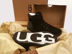 Демисезонные замшевые высокие кеды ботинки