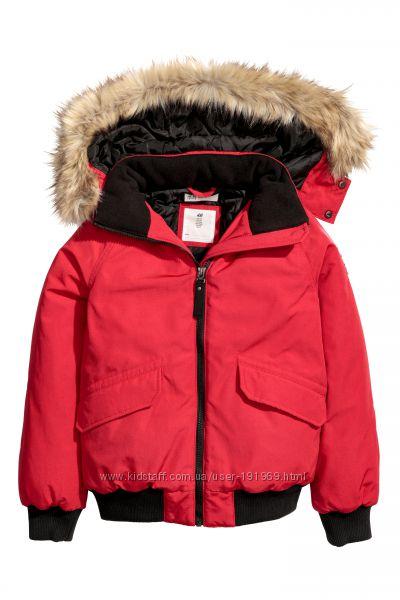 Красная куртка для девочки рост 158 на 12-13 лет бренд H&M Англия