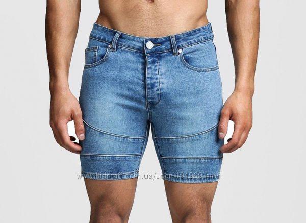 Шорты джинсовые мужские бренд BoohooMAN 34 размер Англия