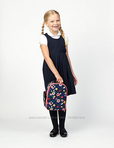Сарафан школьный 7-8 лет 128 рост бренд M&S Англия