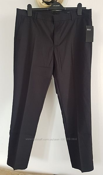 Костюмные ТОНКИЕ брюки скинни фит  Suit trousers Skinny Fit 36 регуляр H&M