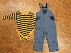 Комплект Mothercare - брюки  боди р. 92 см