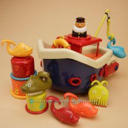 Игровой набор BATTAT ловись рыбка для игры в ванной, 12 аксессуаров