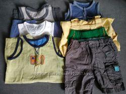 Пакет 6 вещей на мальчика 80-86 размеры