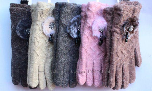 Перчатки шерсть акрил разные модельки