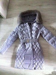 Пуховые пальто KEO, натуральный мех и пух