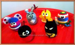 Вязаные игрушки-зверушки, амигуруми, ручная работа